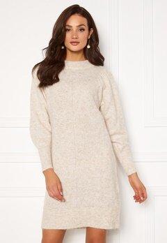 SELECTED FEMME Linna LS Knit Dress Sandshell Bubbleroom.eu