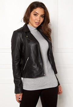 SELECTED FEMME Marlen Leather Jacket Black Bubbleroom.eu