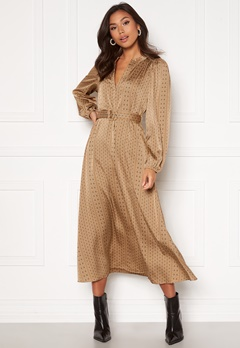 SELECTED FEMME Moni-Florenta Ankle Dress Tigers Eye AOP Bubbleroom.eu