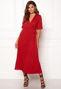 SELECTED FEMME Piper 2/4 Wrap Dress True Red Bubbleroom.eu