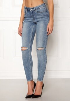 VERO MODA Seven MR Slim Jeans Medium Blue Denim Bubbleroom.eu
