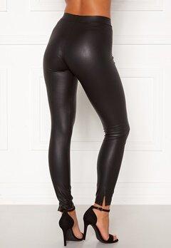 Pieces Shiny MW Slit Leggings Black Detail: CP Bubbleroom.eu