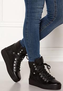 SHOE THE BEAR Agda Leather Shoe 110 BLACK Bubbleroom.eu