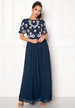 AngelEye Short Sleeve Sequin Dress Navy Bubbleroom.eu