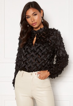 Sisters Point Edea Blouse 000 Black Bubbleroom.eu