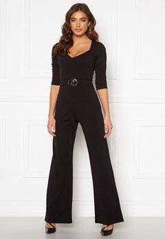 Sisters Point Gal Jumpsuit 001 Black/Gold Bubbleroom.eu