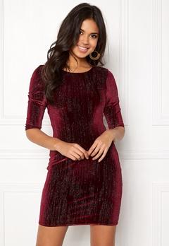 Sisters Point Gexo-V Dress Rubywine/Glitter Bubbleroom.eu