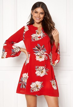 Sisters Point Glans-8 Dress 501 Red/Flower Bubbleroom.eu