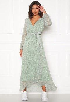 Sisters Point Gush Dress L.Khaki/Leo Bubbleroom.eu
