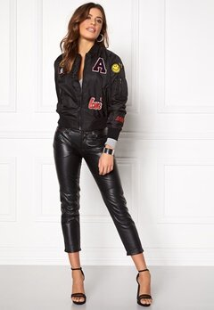 Sisters Point Lusa Patch Bomber Jacket Black Bubbleroom.eu