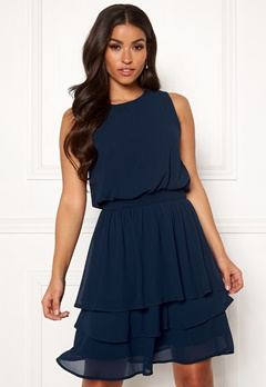 Sisters Point Nicoline Dress 440 Navy Bubbleroom.eu