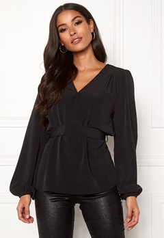 Sisters Point Nilla Blouse 000 Black Bubbleroom.eu