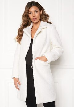 Sixth June Long Sherpa Coat Offwhite Bubbleroom.eu