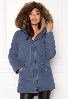 Sixth June Parkas Denim Jacket Blue Denim Bubbleroom.eu