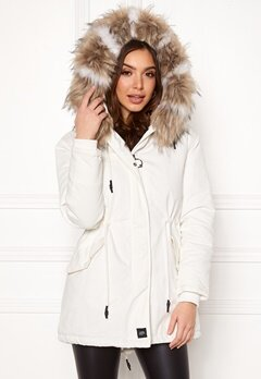 Sixth June Parkas Faux Fur Jacket White/Beige Bubbleroom.eu