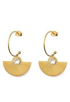 BY JOLIMA Skiathos Earring Pendant Gold Bubbleroom.eu