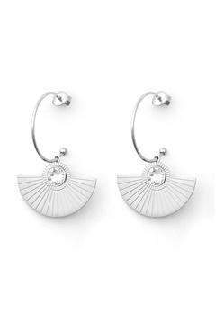 BY JOLIMA Skiathos Earring Pendant Silver Bubbleroom.eu