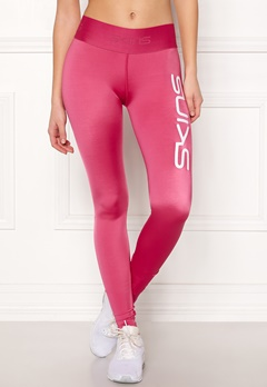 Skins Long Tights With Logo Pink Logo Bubbleroom.eu
