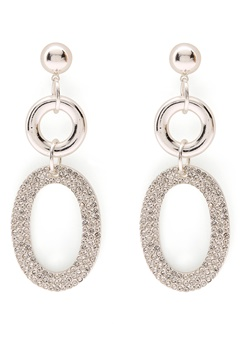 SNÖ of Sweden Doreen Pendant Earring Silver/Clear Bubbleroom.eu