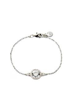 SNÖ of Sweden Lissy Chain Bracelet Silver/Clear Bubbleroom.eu