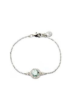 SNÖ of Sweden Lissy Chain Bracelet Silver/Sapphire Bubbleroom.eu