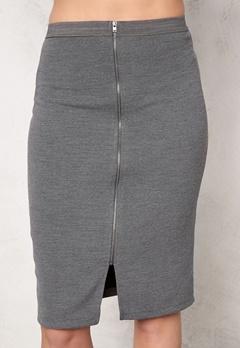 SOAKED IN LUXURY Laureen Skirt Medium Grey Melange Bubbleroom.eu