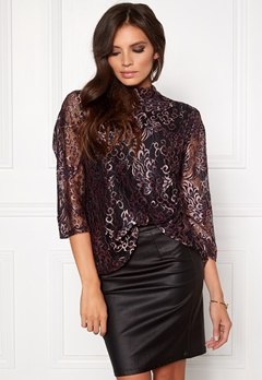 SOAKED IN LUXURY Rachelle Top 3/4 Peacock Lace Bubbleroom.eu