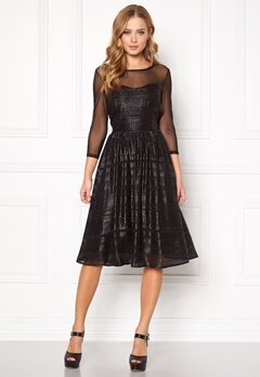 SOAKED IN LUXURY Vogue Dress Black Bubbleroom.eu