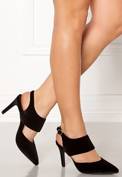 SOFIE SCHNOOR Shoe Open Stiletto Velvet Black Bubbleroom.eu