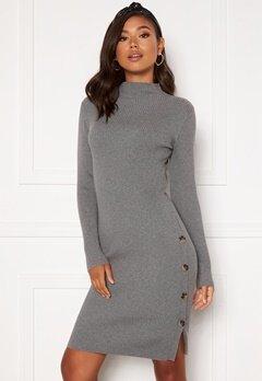 VILA Solto Knit Dress Medium Grey Melange Bubbleroom.eu