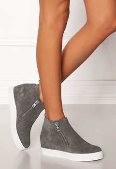 Steve Madden Wedgie Sneaker Shoes Grey Suede Bubbleroom.eu
