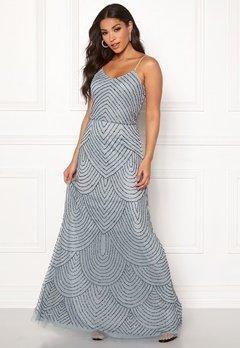 AngelEye Strappy Sequin Maxi Dress Heather Blue Bubbleroom.eu