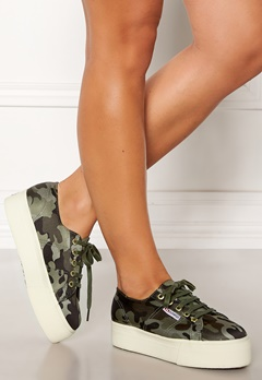 Superga Camo Sneakers Green Camo A15 Bubbleroom.eu