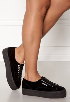 Superga Velvet Sneakers Black Bubbleroom.eu