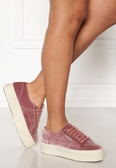 Superga Velvet Sneakers Pink Dusty Rose Bubbleroom.eu