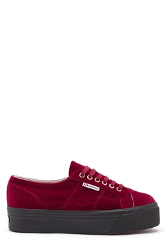 Superga Velvet Sneakers Red Bubbleroom.eu