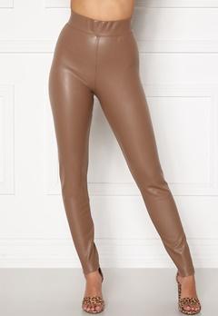 ONLY Superstar PU Leggings Walnut Bubbleroom.eu