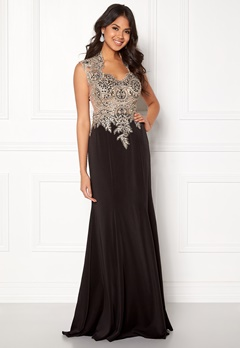 SUSANNA RIVIERI Embellished Mesh Dress Black Bubbleroom.eu