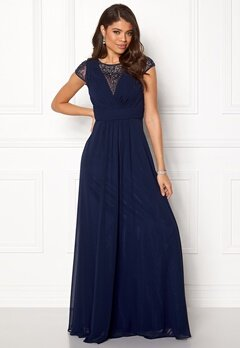 SUSANNA RIVIERI Ceremonial Dress Navy Bubbleroom.eu