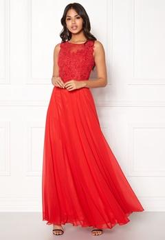 SUSANNA RIVIERI Embroidery Pearl Dress Red Bubbleroom.eu
