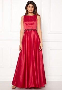 SUSANNA RIVIERI Ceremonial Satin Dress Red Bubbleroom.eu