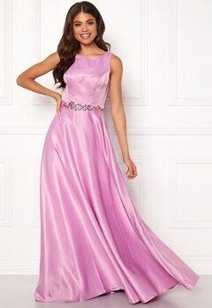 SUSANNA RIVIERI Ceremonial Satin Dress Violet Bubbleroom.eu
