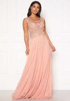 SUSANNA RIVIERI Dream Chiffon Dress Blush Bubbleroom.eu