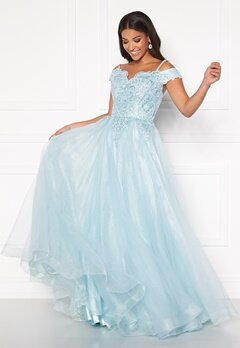 SUSANNA RIVIERI Elsa Prom Dress Ice Blue Bubbleroom.eu