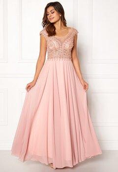 SUSANNA RIVIERI Embellished Beaded Dress Blush Bubbleroom.eu