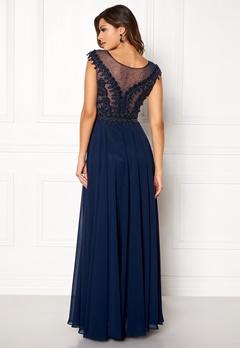 SUSANNA RIVIERI Embellished Beaded Dress Navy Bubbleroom.eu