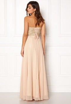 SUSANNA RIVIERI Embellished Chiffon Dress Champagne Bubbleroom.eu