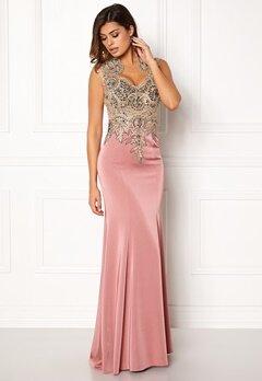 SUSANNA RIVIERI Embellished Maxi Dress Rose Bubbleroom.eu