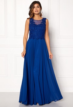 SUSANNA RIVIERI Embroidered Chiffon Dress Royal Bubbleroom.eu