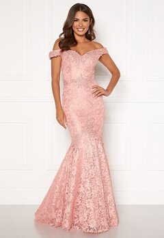 SUSANNA RIVIERI Mermaid Lace Dress Blush Bubbleroom.eu